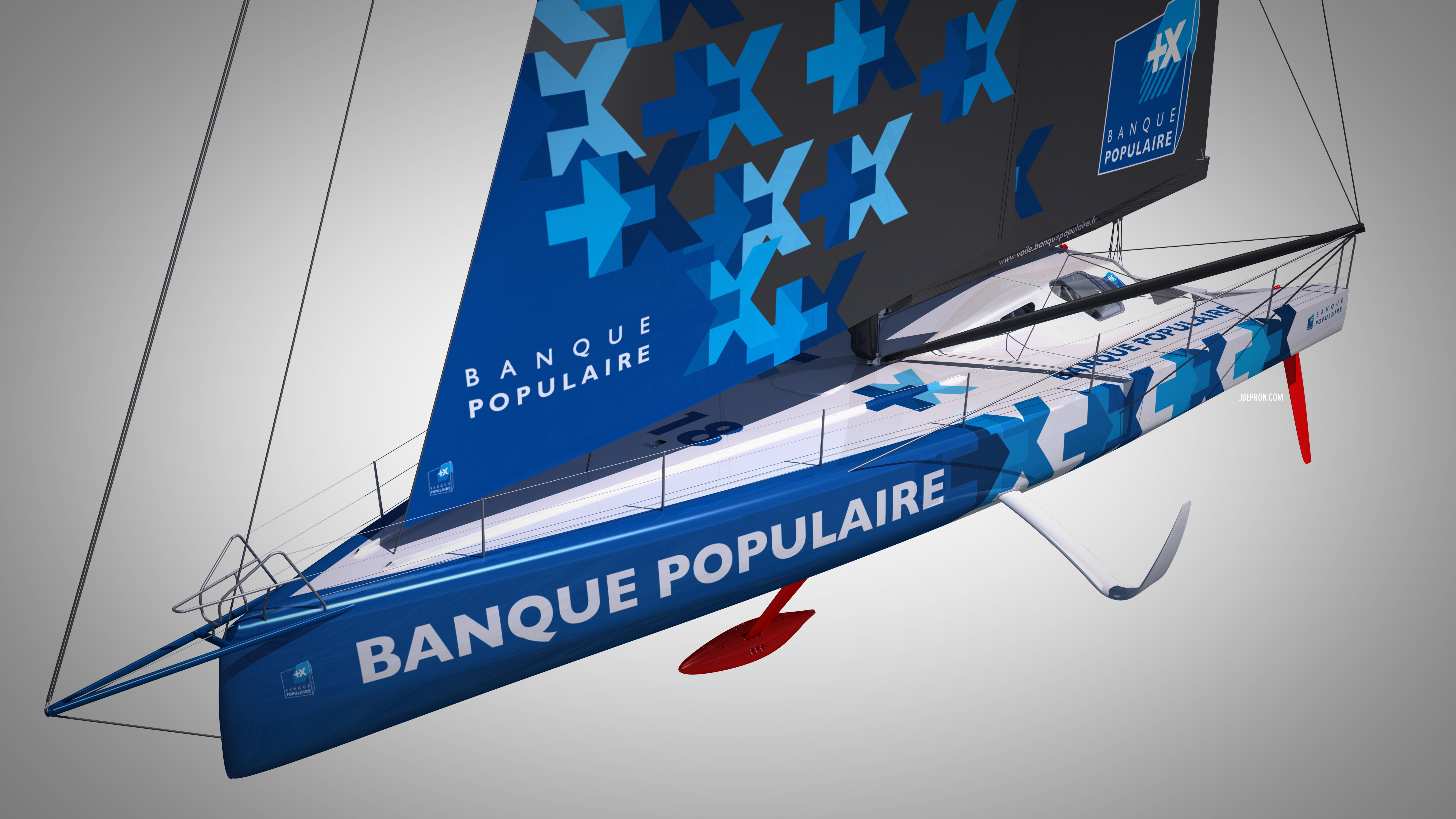 Mono banque populaire viii banque populaire la banque de la voile - Armel le cleac h banque populaire ...